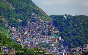 Город: Бразилия, дома, горы, Рио-де-Жанейро, город, фото