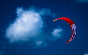 Разное: воздушный змей, небо, облака