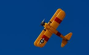 Авиация: биплан, самолёт, небо
