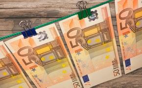 Разное: деньги, евро, банкноты, банкнота, купюра, валюта, прищепка, верёвка