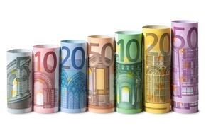 Разное: деньги, евро, банкноты, банкнота, купюра, валюта