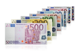 Разное: деньги, евро, банкноты, банкнота, купюра, валюта, ряд