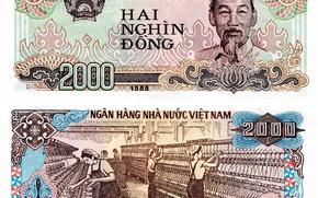 Разное: деньги, донг, банкнота, купюра, Вьетнам, Хо Ши Мин, герб, 1988, 2000