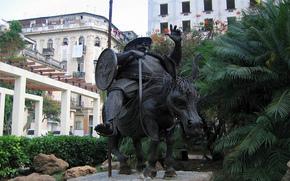 Город: Куба, старая, Гавана, памятник, Санчо Панса