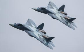 Авиация: Авиация, ВВС, Россия, ПАК ФА, Т-50, многоцелевой, самолет, истребитель, полёт, аримия, оружие, небо