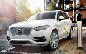 Машины: Электромобиль, Вольво, зарядка, Volvo, XC90, T6