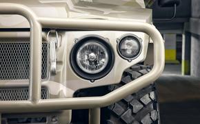 Машины: ГАЗ-2330, Тигр, гражданская, версия, российский, многоцелевой, повышенной, проходимости, бронеавтомобиль, внедорожник, фара, фары, передние, левые, размытость