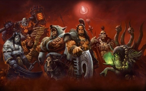 Игры: World_of_warcraft, warlords_of_draenor, war, weapons, monsters, red
