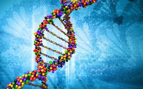 Рендеринг: молекула, ДНК, наука, биология, жизнь, химия, атомы