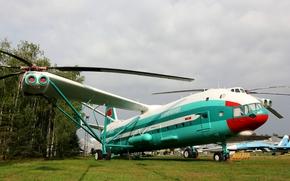 Авиация: Ми-12, вертолёт, Миль, СССР, лопасти, винты, Аэрофлот