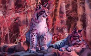 Рендеринг: lynx, рысь, art