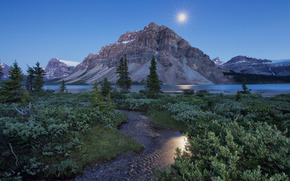 �������: Bow Lake, Crowfoot Mountain, Banff National Park, Canadian Rockies, Alberta, Canada, ����� ���, ����, ��������, ������, ���� �������, ��������� ��������� ����, ����, �����, �����