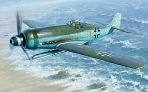 Авиация: арт, Самолет, Люфтваффе, Германия, Focke-Wulf FW190D-12 R14