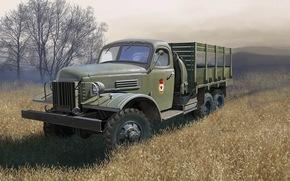 Оружие: арт, Машина, Военный грузовик, СССР, ЗиС-151