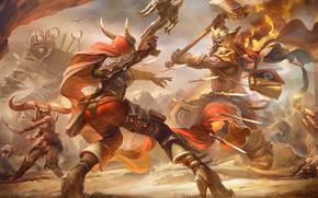 Игры: Heroes of the Storm, Valla, Demon Hunter, Uther, The Lightbringer, схватка
