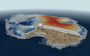 Рендеринг: Антарктида, лёд, наука, материк, океан, суша, Земля