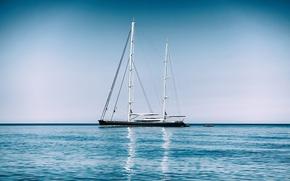 Корабли: Mediterranean Sea, Средиземное море, яхта, море