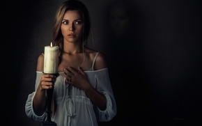 Настроения: девушка, свеча, ситуация, настроение