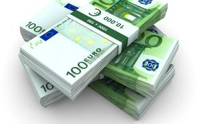 Разное: деньги, евро, банкноты, банкнота, купюра, пачка, пачки, валюта, 100