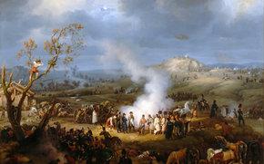 Разное: картина, Луи-Франсуа, Лежен, Бивуак Наполеона близ Аустерлица, Наполеон, 1805