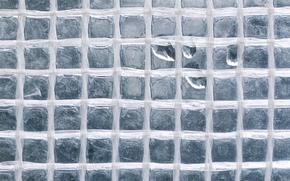 Текстуры: стекло, квадраты, капли, макро, текстура