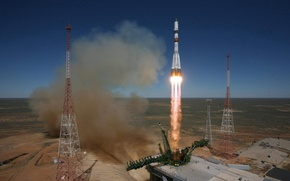 Космос: Ракета, старт, Байконур, космодром, Казахстан, Россия, Роскосмос, космос, наука, техника