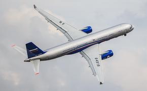 Авиация: Пассажирский, самолёт, ТУ-214, Туполев, авиация, транспорт, полёт, небо, облака, Жуковский