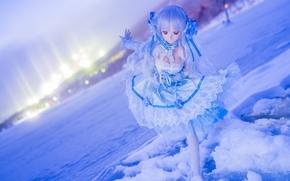 Разное: кукла, игрушка, настроение, зима, снег