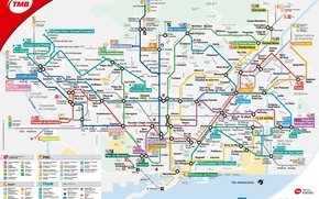 Разное: Карта, план, схема, метро, город, Барселона