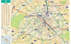 Разное: Карта, план, схема, метро, транспорт, город, Париж, Франция