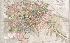 Разное: Карта, план, город, Берлин, 1811, Германия