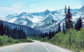 Пейзажи: Road, Haines, Alaska, USA