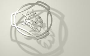 Рендеринг: Scania_logo, Скания, Грифон, Логотип Скания, 3D logo scania.