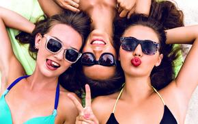 Настроения: девушки, настроение, очки, пальцы, жест, лето