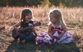 Настроения: дети, мальчик, девочка, гитара, настроение