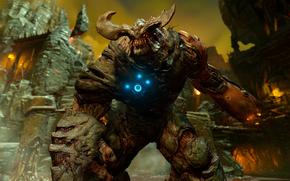 Игры: Doom 4, Cyberdemon, Кибердемон, демон, монстр