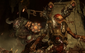 Игры: Doom 4, Cyberdemon, Кибердемон, монстры
