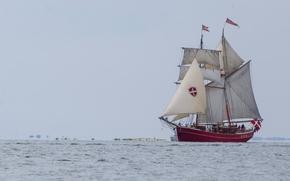 Корабли: парусник, паруса, море, плавание