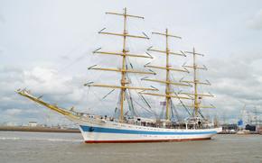 Корабли: Корабль, парусник, Мир, море, небо
