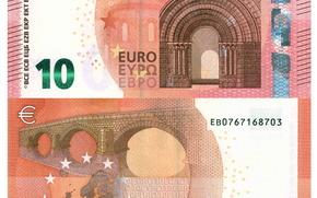Разное: Деньги, евро, банкнота, купюра, 10