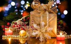 Праздники: новый, год, украшения, подарки