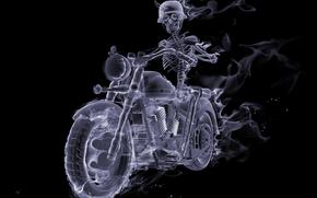 ���������: Fire, Smoke, Biker