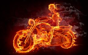 Рендеринг: Fire, Smoke, Biker