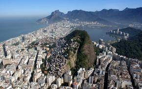 Город: Рио-де-Жанейро, Бразилия, город, горы, море