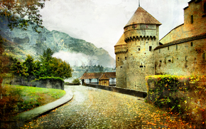 Стиль: vintage, Swiss, castle