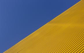 Обои Минимализм: диагональ, синий, жёлтый