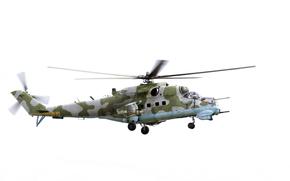 Авиация: ударный, вертолет, МИ-24, Hind
