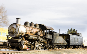 Машины: steam, locomotive, Colorado Railroad Museum, USA