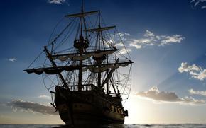 ���������: 3D, ancient, ship, sailboat