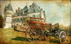 �����: castle, carriage, vintage